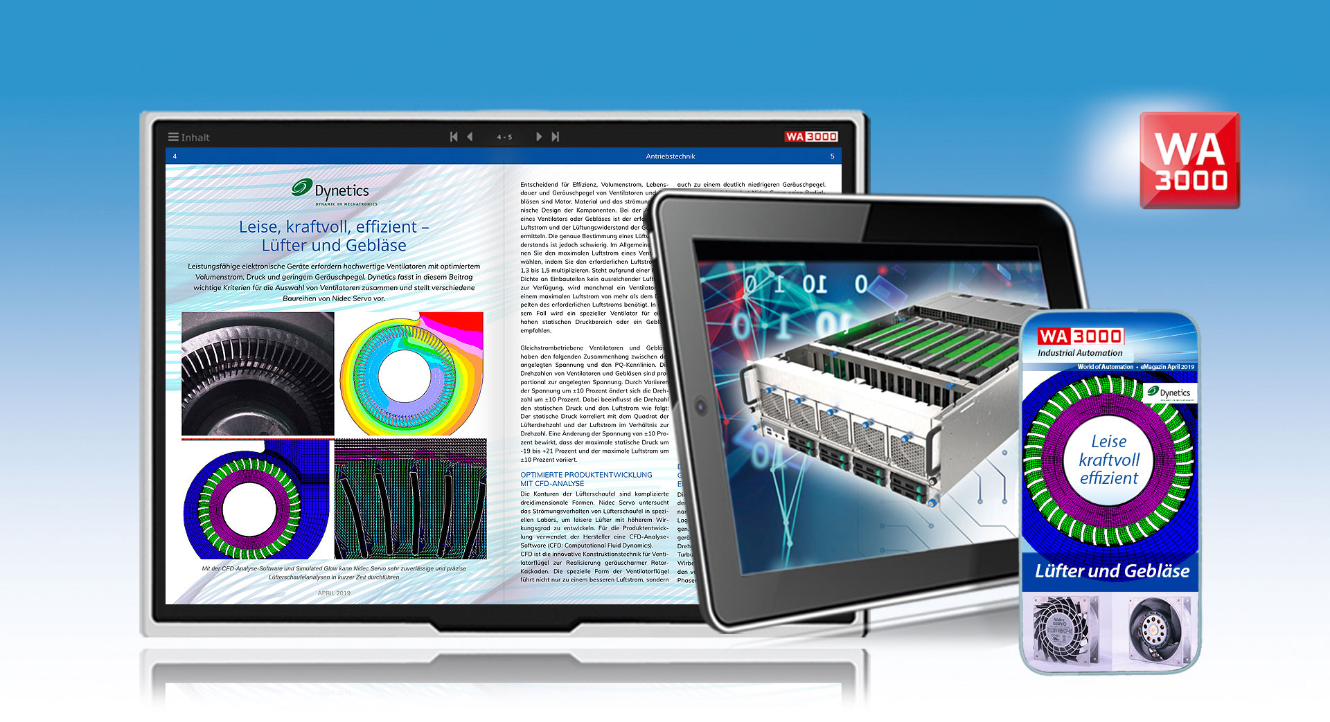 Digital magazines, catalogues, brochures, leaflets with a new web technology and Web App